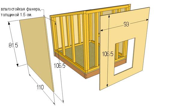 размеры будки