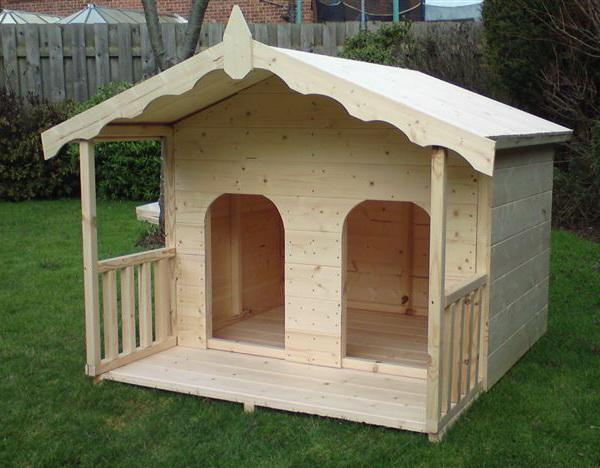 будка-домик для двух собак без перегородки