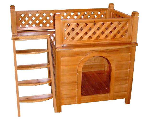 будка для собаки с площадкой