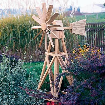 декоративная садовая конструкция мельница